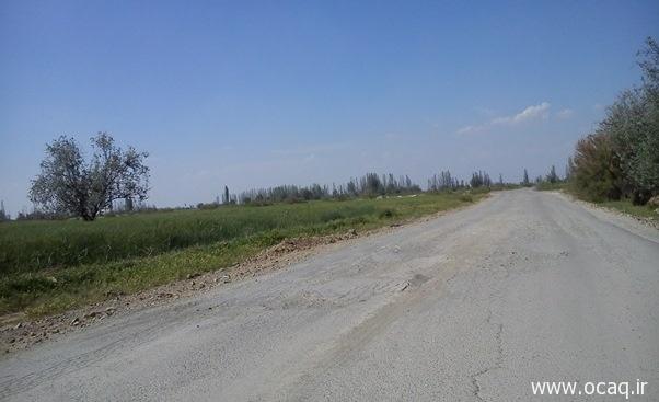 جاده چهاربرج - بناب و عدم وجود زیرسازی مناسب