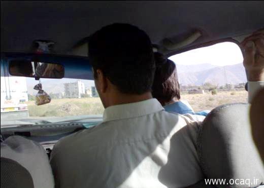 سوار کردن دو مسافر در صندلی جلو